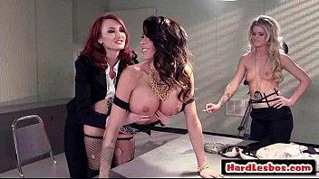 hot &amp_ mean lesbians punish new office secretary.
