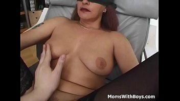 blindfolded and tied mama fucked with.