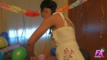 ebony beauty celebrates her 18 birthday by having.