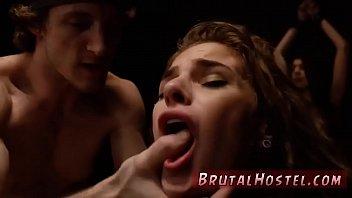 extreme ebony masturbation and squirting rough bondage two youthful
