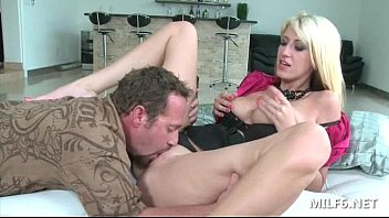 excited milf blowing cock for an amazing pussy.