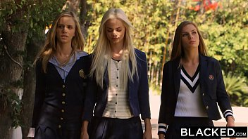blacked preppy girl threesome get three.