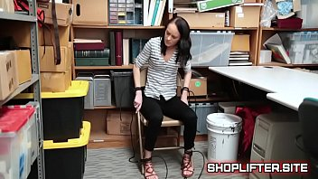 helpless shoplyfter kylie martin tied to chair with rope