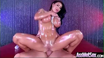 (august taylor) slut girl with big oiled butt.