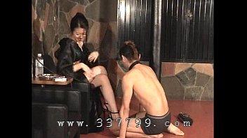 japanese femdom k of kimono slapping the face.