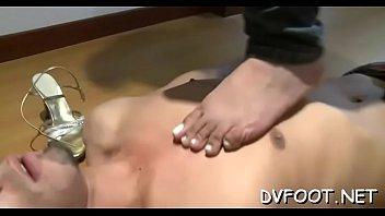 sexy interracial foot fetisj act on.