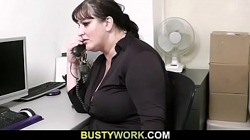 huge melons secretary pleases her boss