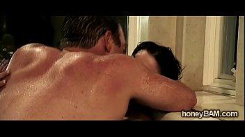 horny brunette hottie gets her man in this.