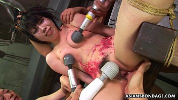 asian bitch loves to be bdsm treated to.