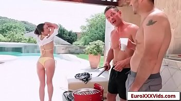 euro xxx party - double dicking doll with.
