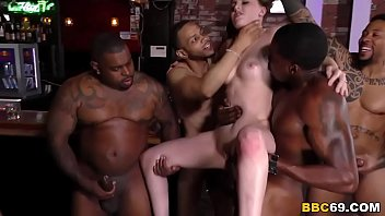 bbc slut jenna marie gets creampied after group sex
