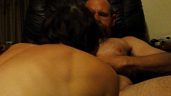 amateur wife sucks husband&#039_s big dick in his chair