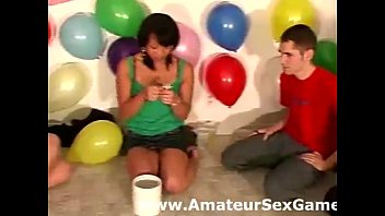 titty play for amateur lesbians in sexy party game