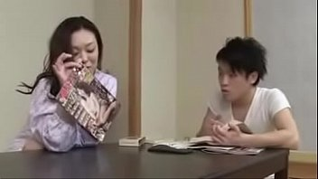 japanese milf withyoung boy drink and.
