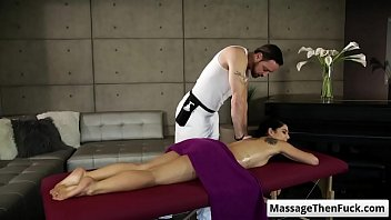 gina valentina gets a sensual massage and prepare.