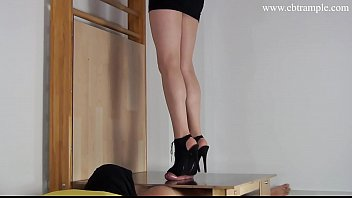 high heel cock ball crush trampling