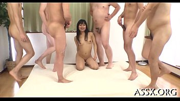 uncouth japanese gang group sex