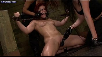 hot redhead lesbian gets rubbed