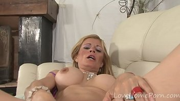 busty blonde mounts her lover'_s thick.