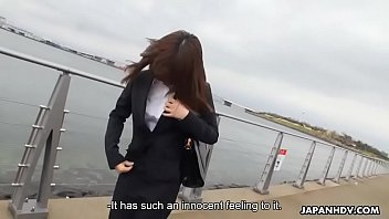 pantyhosed japanese office lady gets roughly used before.