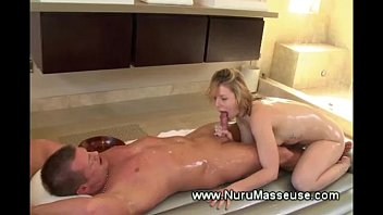 lucky guy enjoys his erotic massage from a.