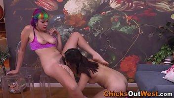 rainbow hair aussie lesbo