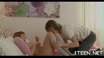 delightsome teen gives magical blowjob during.