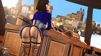 elizabeth bouncing her booty
