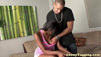 ebony tugging babe fingered