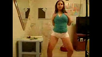 chubby latina chick with thick body twerking her.
