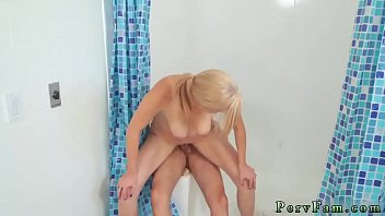 milf sucking dick and bra panties big tits.