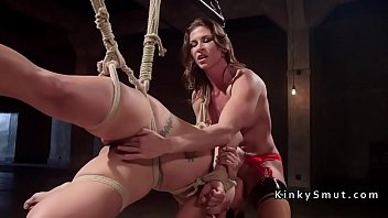 lesbian slave rough anal fucked with.