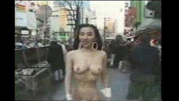 crazy asian girl walks naked in.