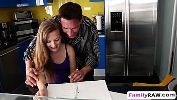 step daughter marissa mae helps step dad by banging