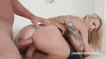 double anal creampies alina long gets anal, dp,.