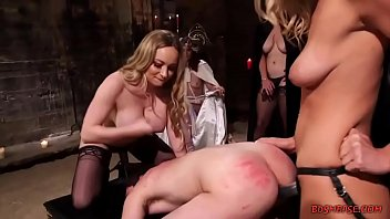 horny mistresses strapon-fuck a guy