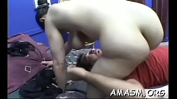 real amateur woman smothering chap when.
