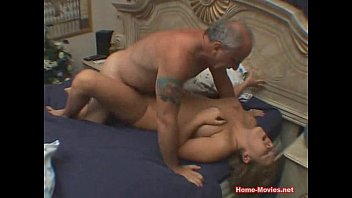 cuckold horny chick fucked by old.