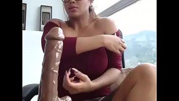 big tits asian babe blowjob on.