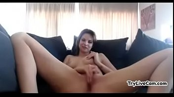 sexy whore rubs her snatch at.