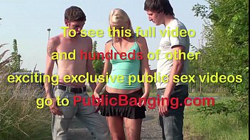 extreme public teen sex threesome in the middle.