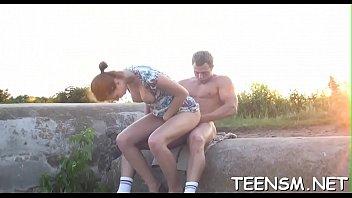 lewd dude licks hot clit