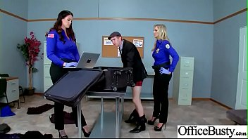hard sex tape in office with big round.