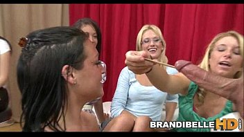 brandi belle and friends measure cock.
