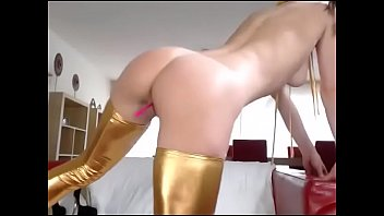 sexy girl teases pussy plug with.