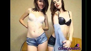 two sexy girls webcam striptease -.