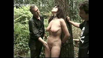 hot slave tied to a tree gets alot.