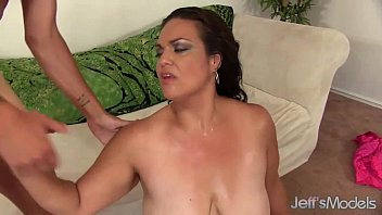 brunette bbw angelina takes a stiff cock in.