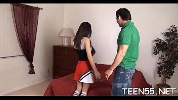 cute skinny teen cannot help pleasing her coach&#039_s.