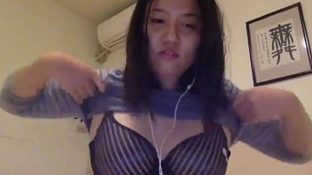 hairy chinese shy girl shows boobs.